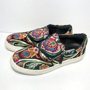 STEVE MADDEN GEARY EMBROIDERED SLIP ON SNEAKERS